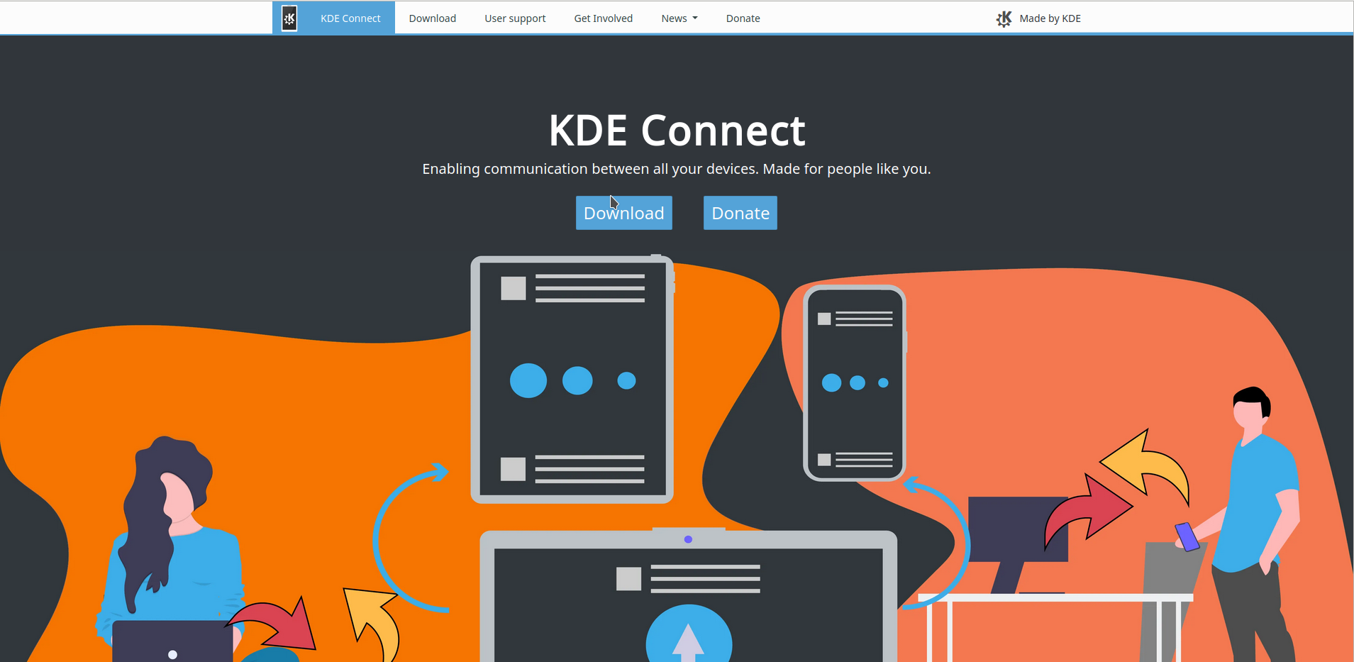 KDE Connect Website